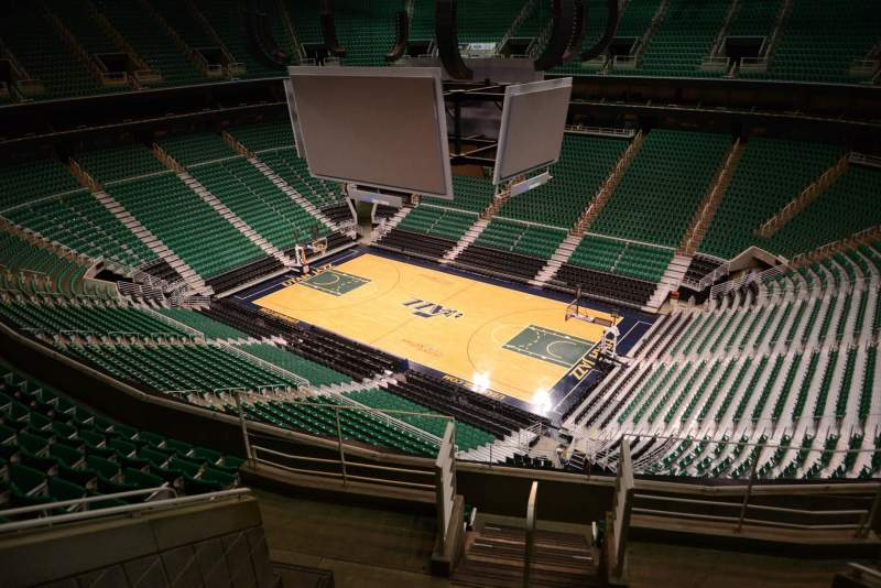 Seating view for Vivint Smart Home Arena Section 108 Row 8