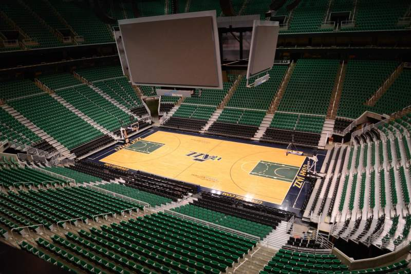 Seating view for Vivint Smart Home Arena Section 109 Row 1