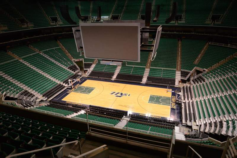 Seating view for Vivint Smart Home Arena Section 110 Row 8