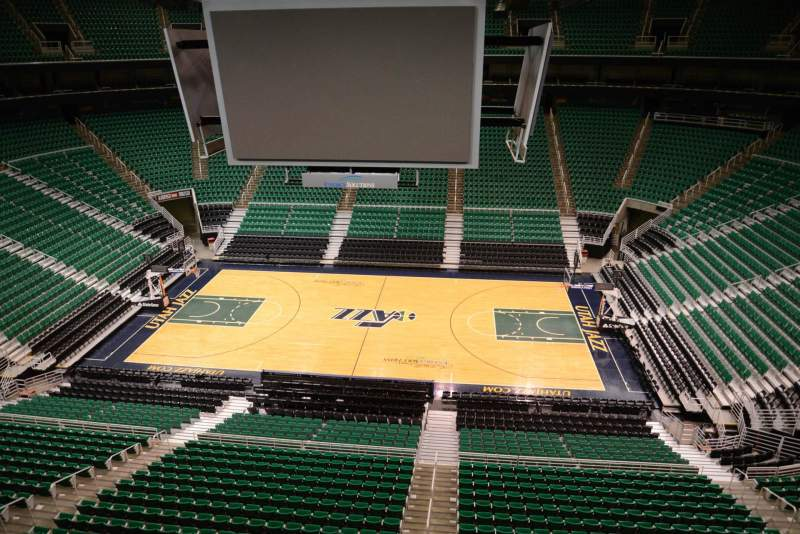 Seating view for Vivint Smart Home Arena Section 111 Row 1