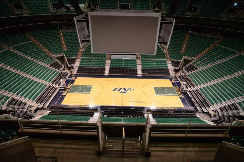 Seating view for Vivint Smart Home Arena Section 112 Row 8