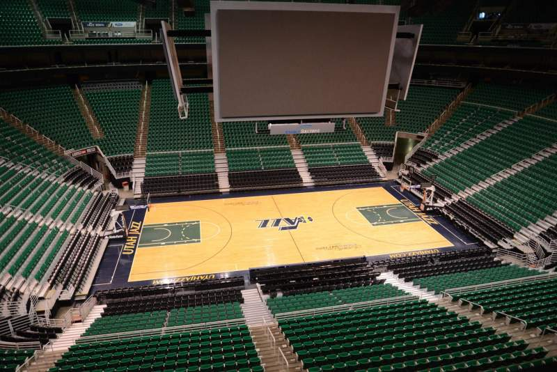 Seating view for Vivint Smart Home Arena Section 113 Row 1