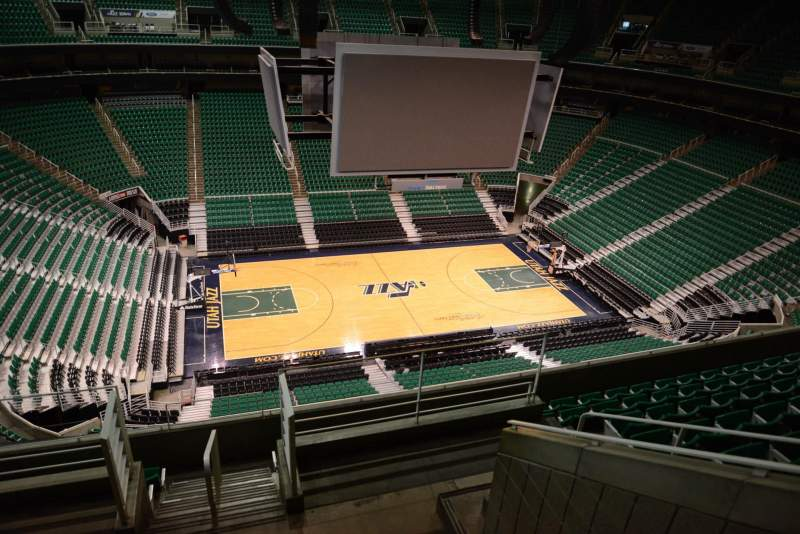Seating view for Vivint Smart Home Arena Section 114 Row 8
