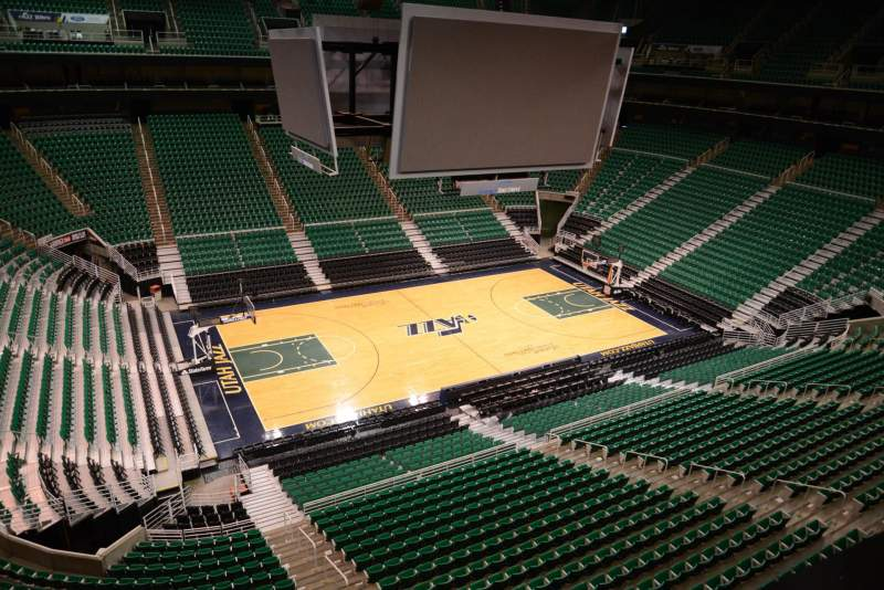 Seating view for Vivint Smart Home Arena Section 115 Row 1