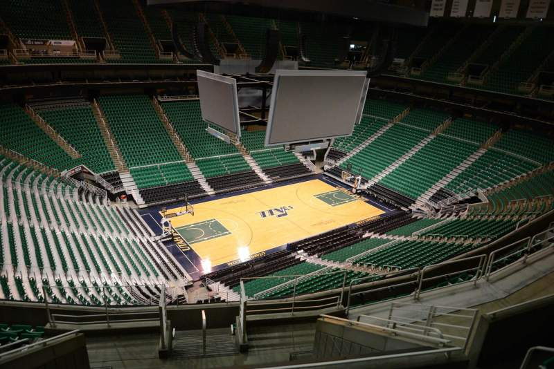 Seating view for Vivint Smart Home Arena Section 116 Row 10