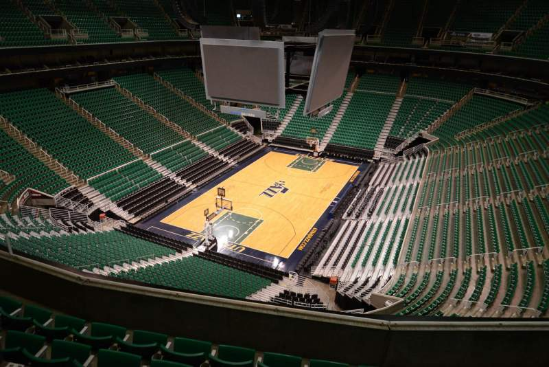 Seating view for Vivint Smart Home Arena Section 119 Row 5