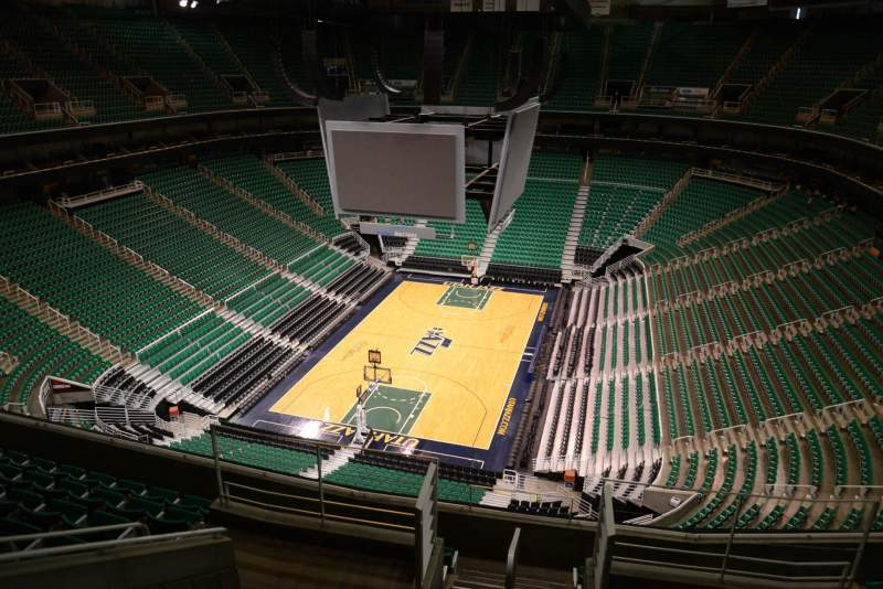 Seating view for Vivint Smart Home Arena Section 120 Row 8