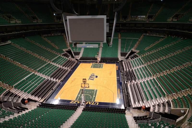 Seating view for Vivint Smart Home Arena Section 121 Row 1