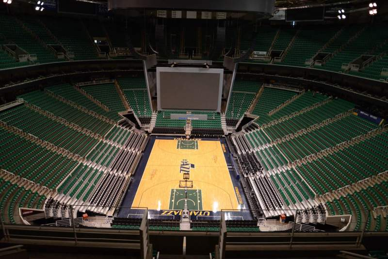 Seating view for Vivint Smart Home Arena Section 122 Row 8