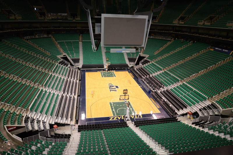 Seating view for Vivint Smart Home Arena Section 123 Row 1