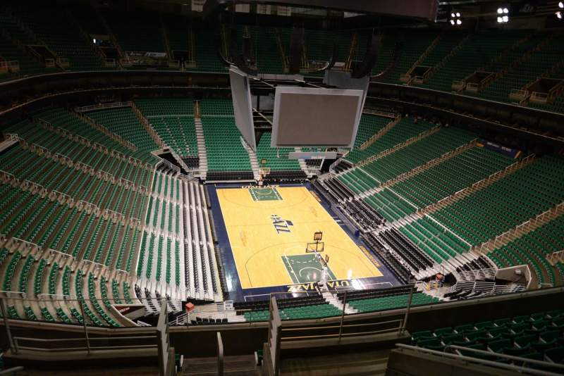 Seating view for Vivint Smart Home Arena Section 124 Row 8