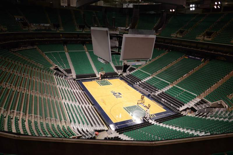 Seating view for Vivint Smart Home Arena Section 125 Row 5