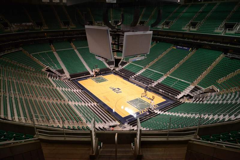 Seating view for Vivint Smart Home Arena Section 126 Row 8