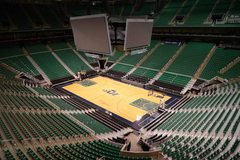 Seating view for Vivint Smart Home Arena Section 127 Row 1