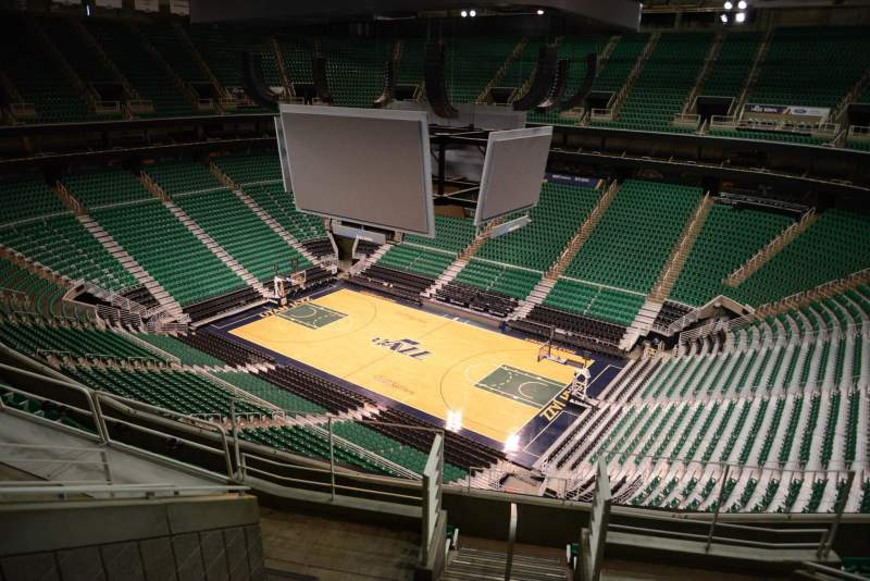 Seating view for Vivint Smart Home Arena Section 128 Row 8