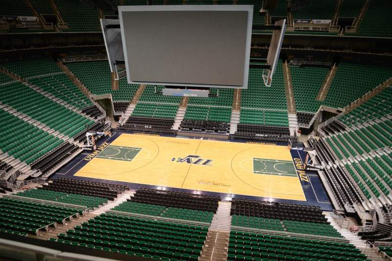 Seating view for Vivint Smart Home Arena Section 131 Row 1
