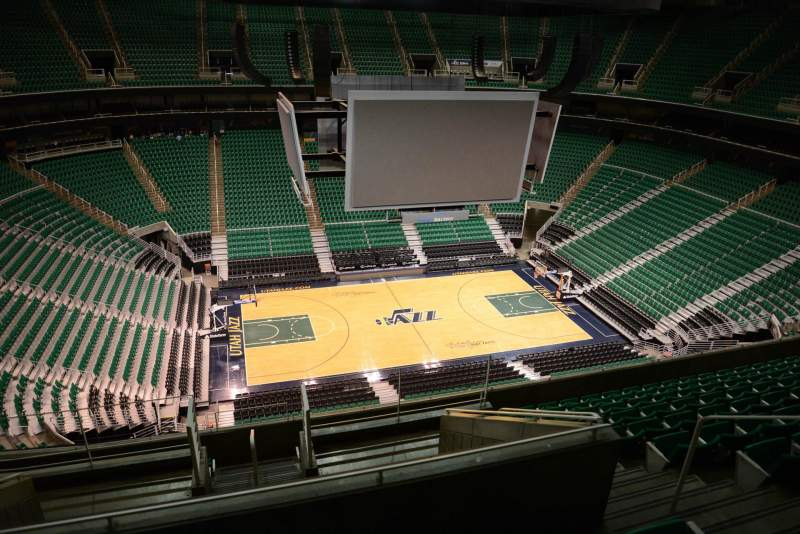 Seating view for Vivint Smart Home Arena Section 134 Row 10