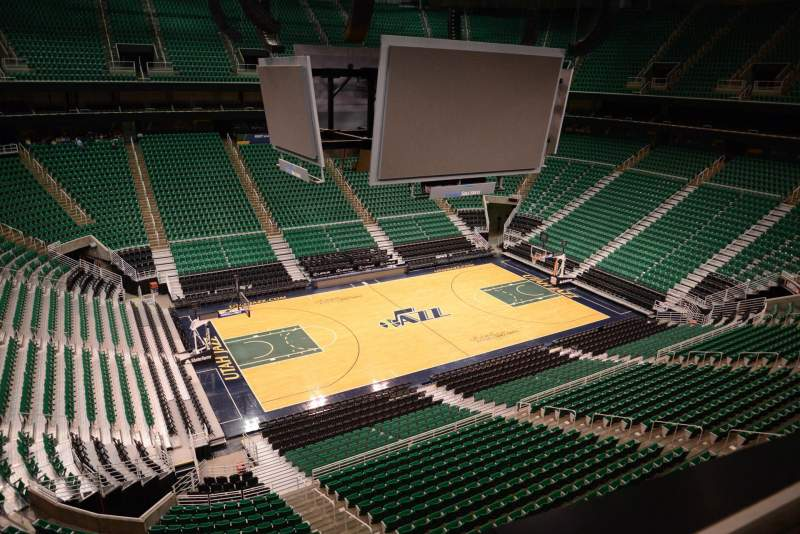 Seating view for Vivint Smart Home Arena Section 135 Row 1