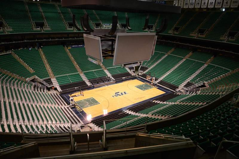 Seating view for Vivint Smart Home Arena Section 136 Row 10