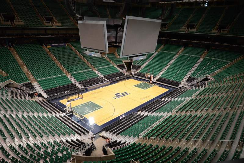 Seating view for Vivint Smart Home Arena Section 137 Row 1