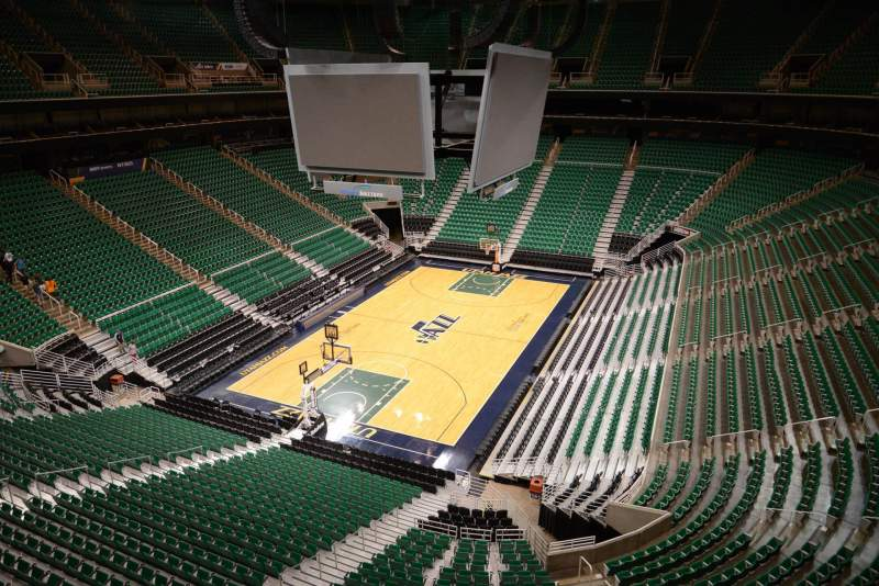 Seating view for Vivint Smart Home Arena Section 139 Row 1