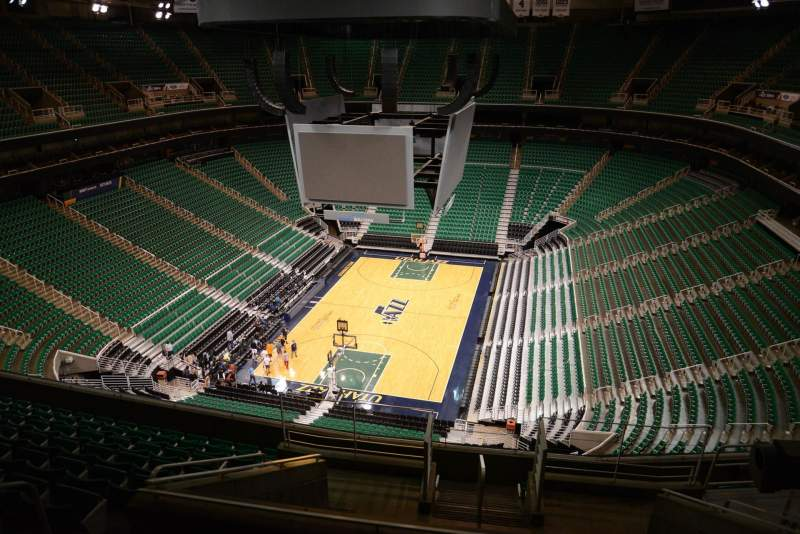 Seating view for Vivint Smart Home Arena Section 140 Row 10