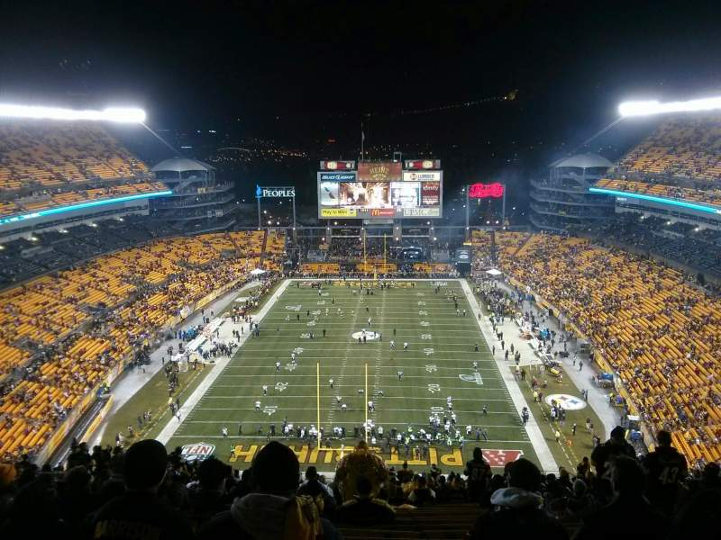 Seating view for Heinz Field Section 523 Row LL Seat 17