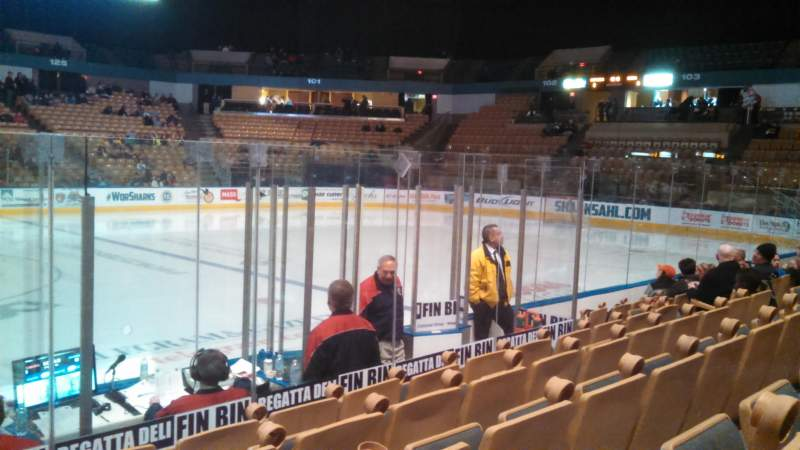 Seating view for DCU Center Section 108 Row JJ Seat 14