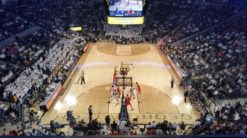 Seating view for McCamish Pavilion Section 205 Row 1 Seat 9