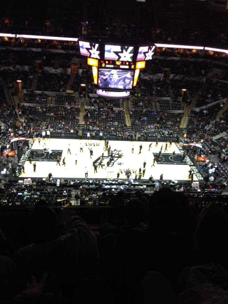 Seating view for AT&T Center Section 208 Row 12 Seat 19