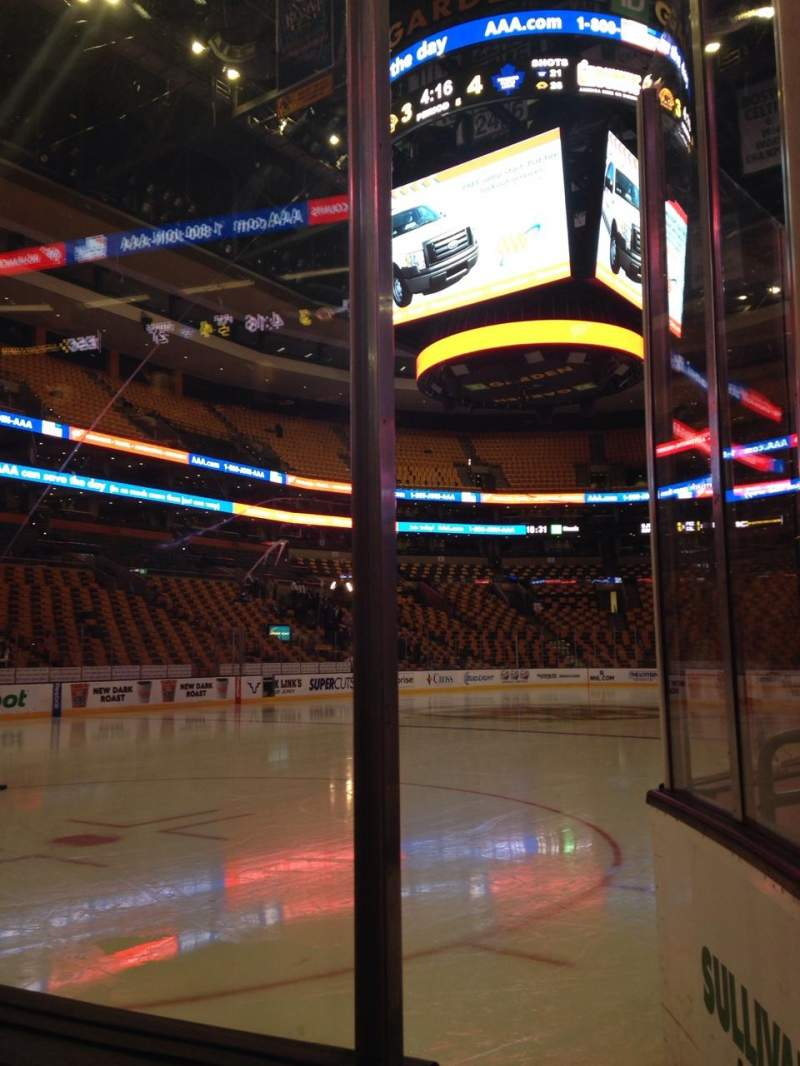 Seating view for TD Garden