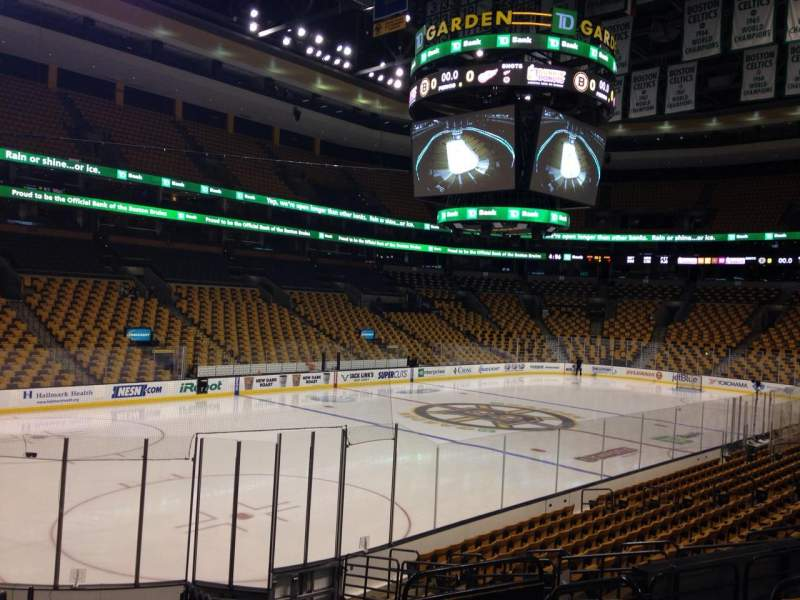 Seating view for TD Garden Section Loge 15 Row 8 Seat 7