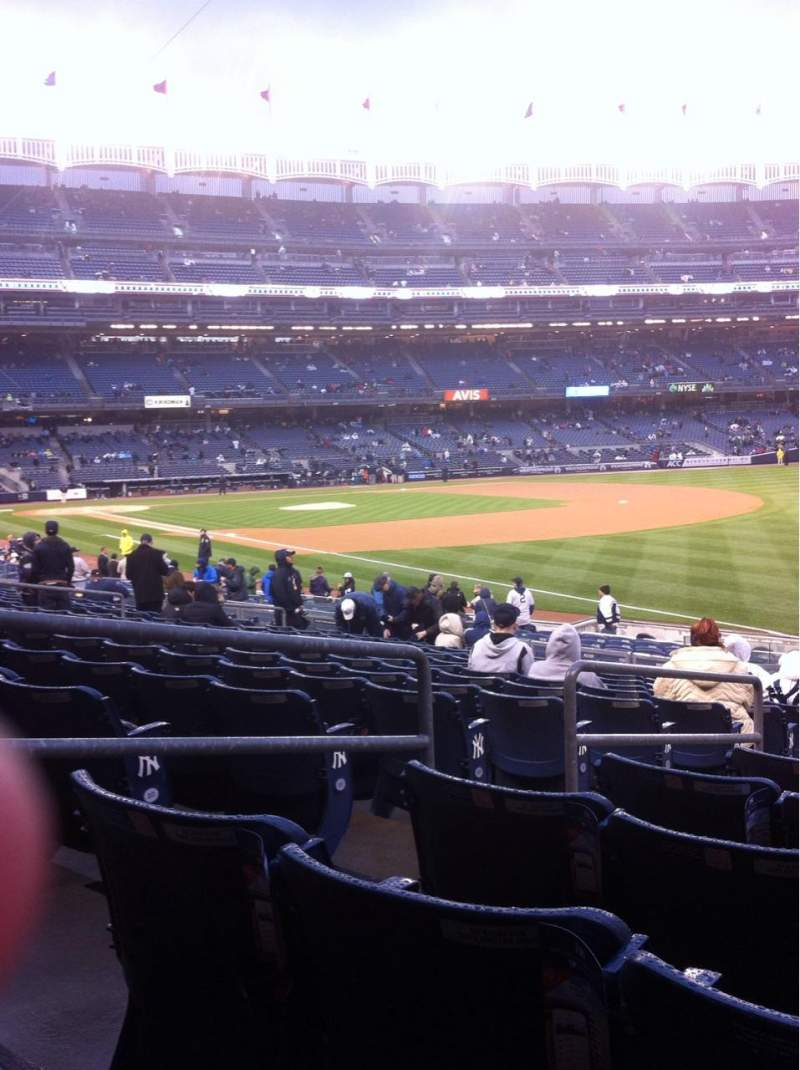 Seating view for Yankee Stadium Section 110 Row 25 Seat 13