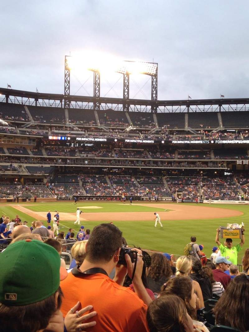 Seating view for Citi Field Section 106 Row 18 Seat 10