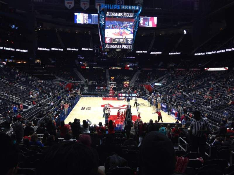 Seating view for Philips Arena Section 120 Row M Seat 6