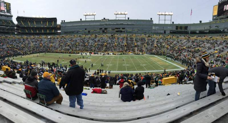 Seating view for Lambeau Field Section 115 Row 47 Seat 13