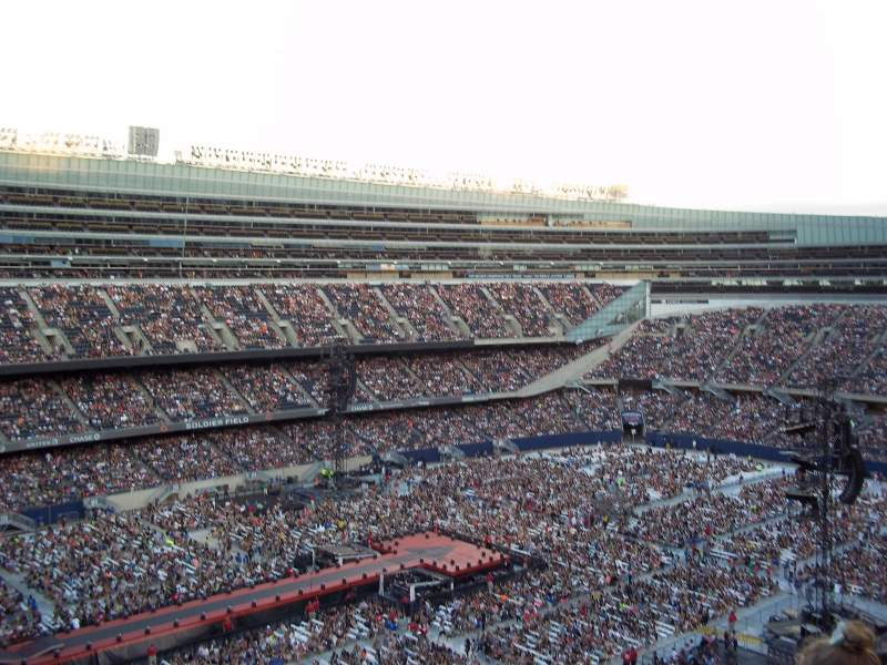 Seating view for Soldier Field Section 443 Row 11