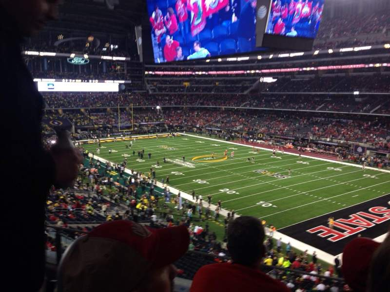 Seating view for AT&T Stadium Section 328 Row 4 Seat 29