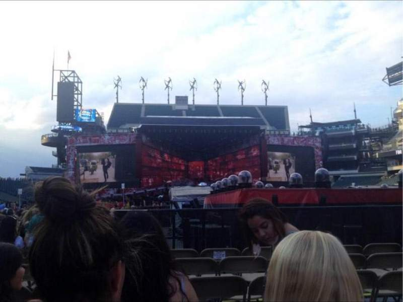 Seating view for Lincoln Financial Field Section F9 Row 36 Seat 15