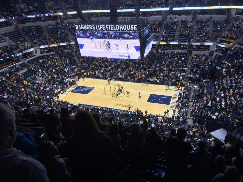 Seating view for Bankers Life Fieldhouse Section 207 Row 10 Seat 16