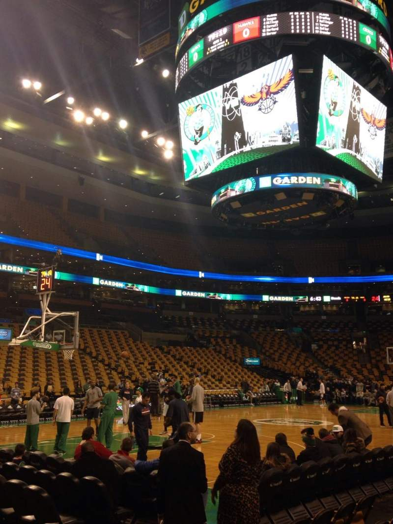 Td Garden Section Loge 14 Row 3 Seat 12 Boston