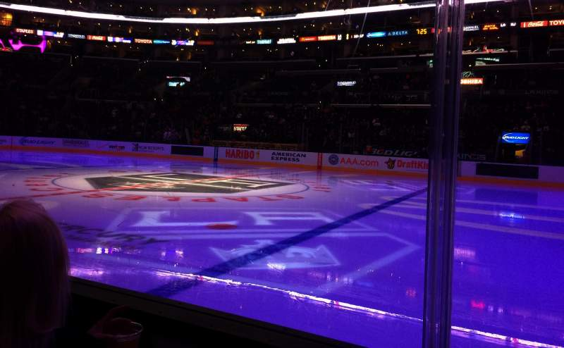 Seating view for Staples Center Section 110 Row 2 Seat 11