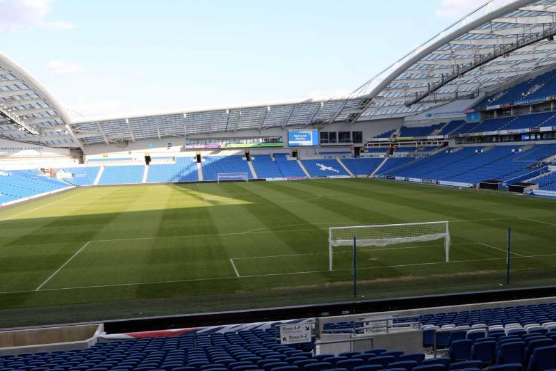 Seating view for American Express Community Stadium Section N1F Row T