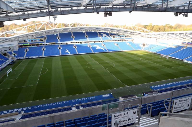 American Express Community Stadium, section: W3G, row: H