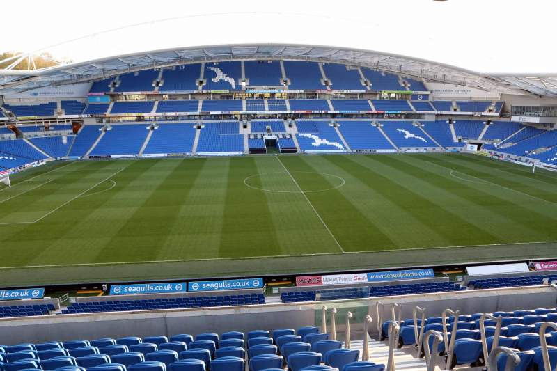 Seating view for American Express Community Stadium Section E3E Row G