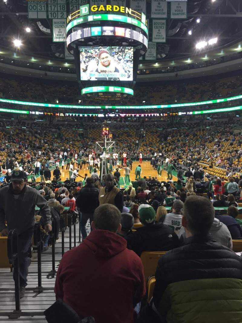Seating view for TD Garden Section Loge 17 Row 11 Seat 13