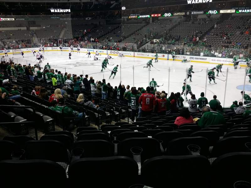 Seating view for American Airlines Center Section 103 Row R Seat 12