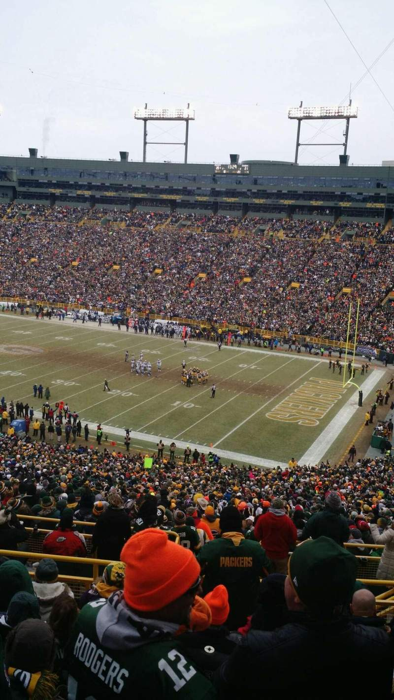 Seating view for Lambeau Field Section 336 Row 9 Seat 25