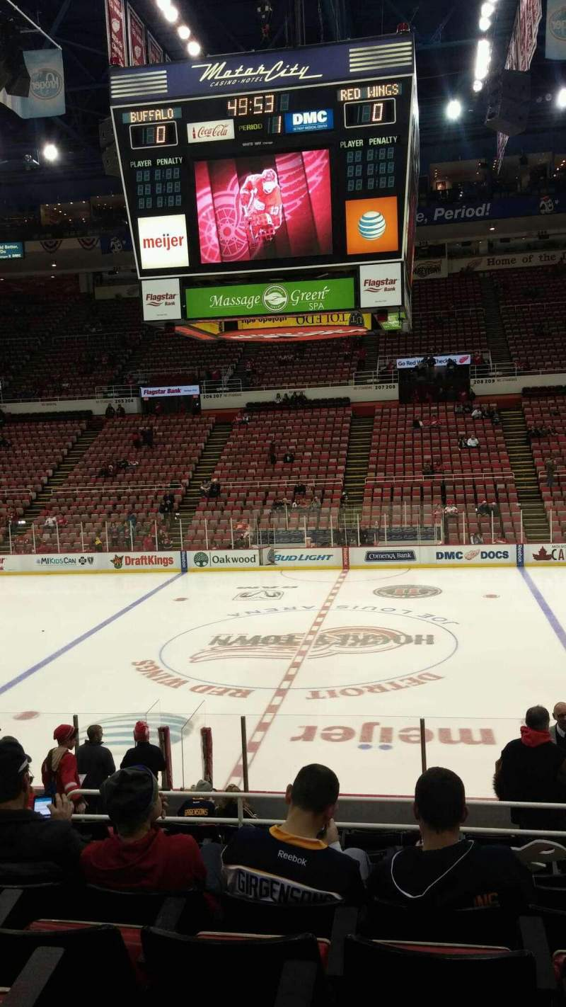 Seating view for Joe Louis Arena Section 121 Row 16 Seat 9