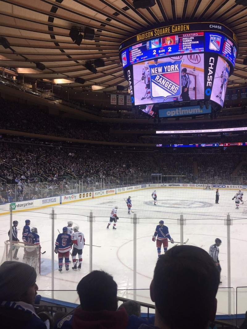 Seating view for Madison Square Garden Section 103 Row 8 Seat 10